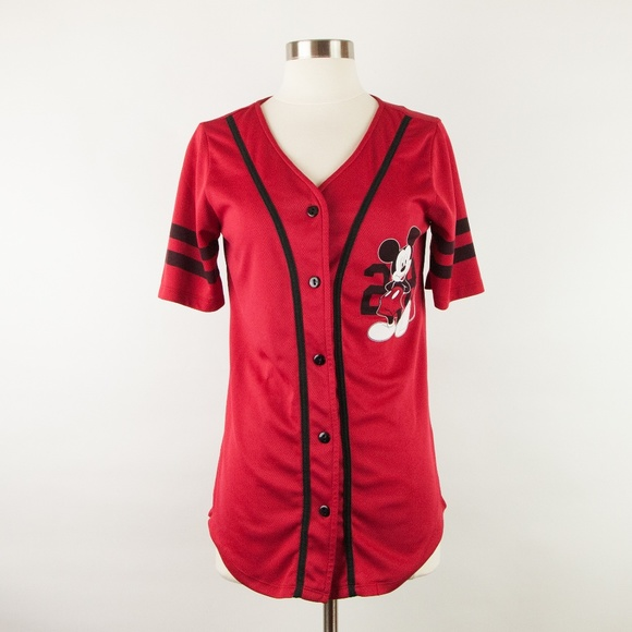 6ac38b3dc Disney Red Mickey Mouse  28 Baseball Jersey